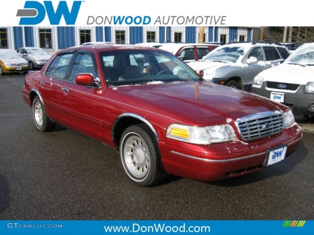 2000 crown victoria lx sedan toreador red metallic light graphite photo 1
