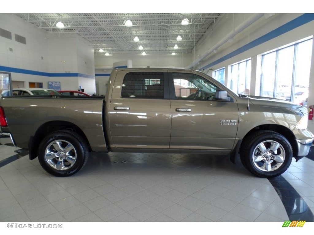 2015 1500 Big Horn Crew Cab 4x4 - Prairie Pearl / Canyon Brown/Light Frost photo #7