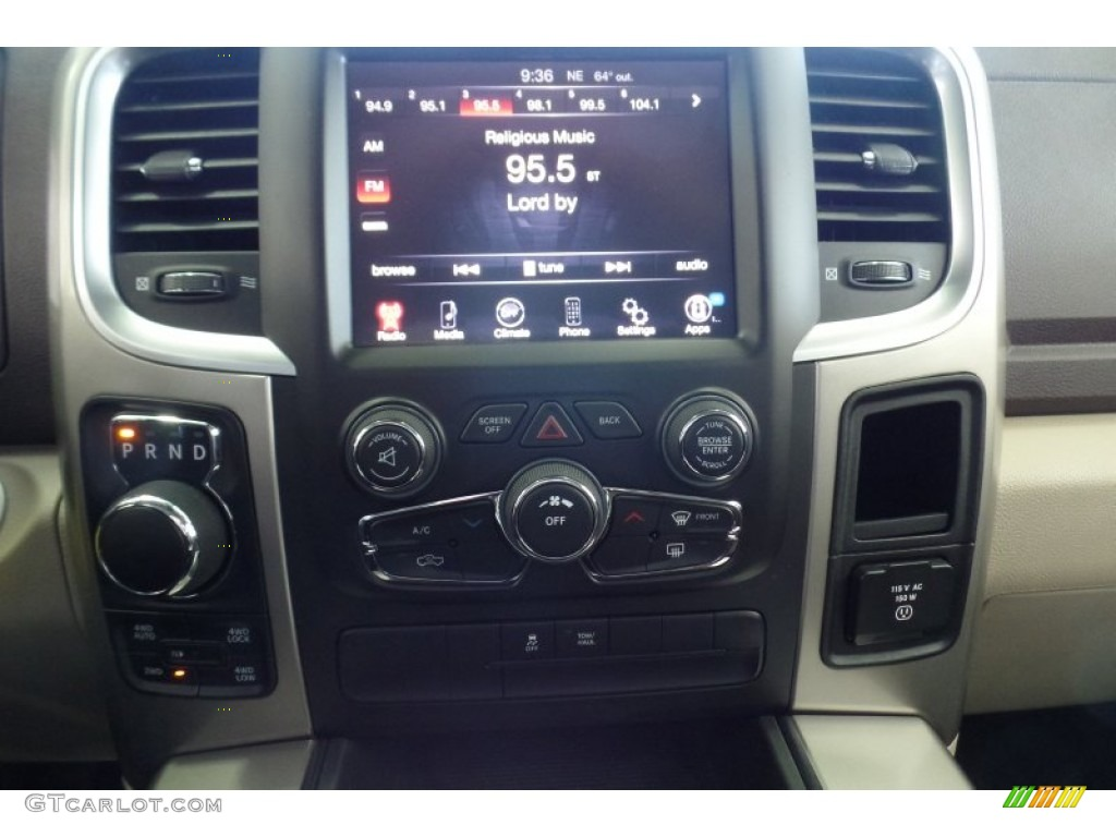 2015 1500 Big Horn Crew Cab 4x4 - Prairie Pearl / Canyon Brown/Light Frost photo #30