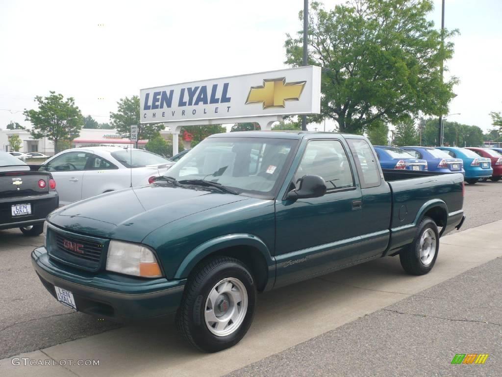 1998 Emerald Green Metallic Gmc Sonoma Sls Extended Cab 10182958 Photo 2 Gtcarlot Com Car Color Galleries
