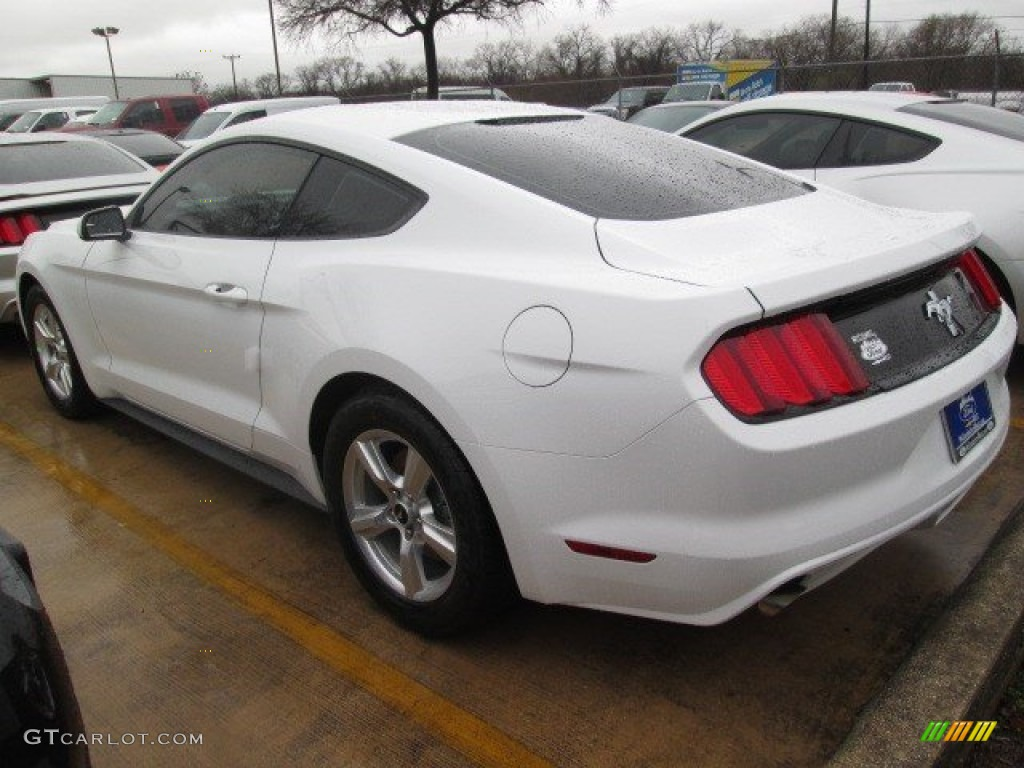2015 Mustang V6 Coupe - Oxford White / Ebony photo #17