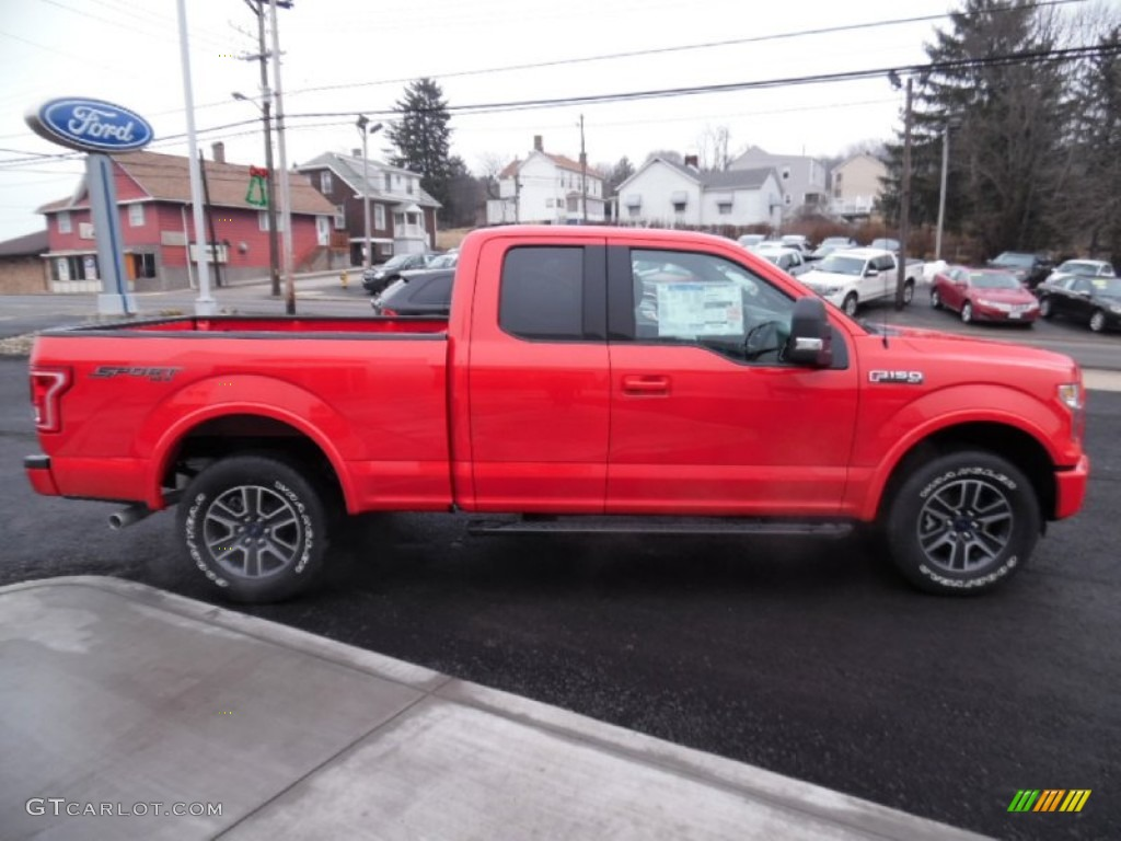 Race Red 2015 Ford F150 XLT SuperCab 4x4 Exterior Photo ...