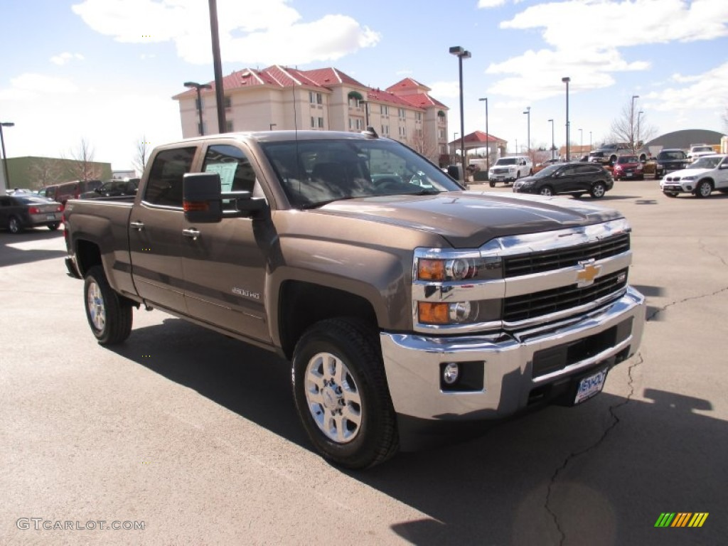 2015 brownstone metallic chevrolet silverado 2500hd lt crew cab 4x4 102147171. Black Bedroom Furniture Sets. Home Design Ideas