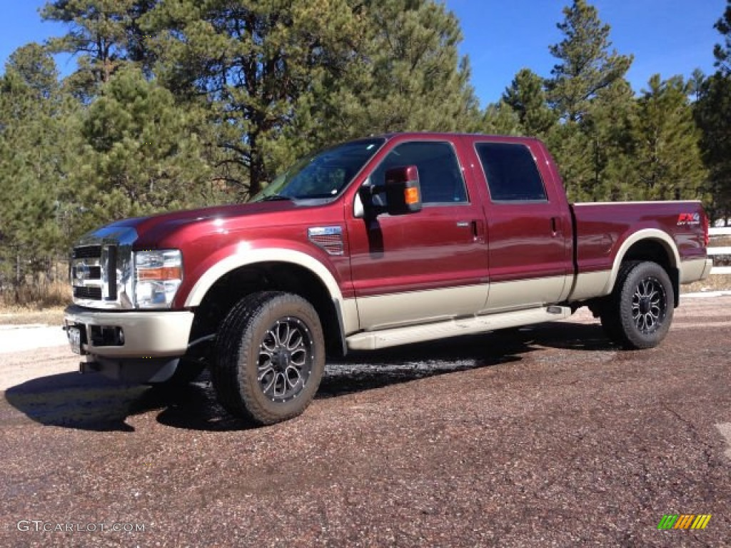 2010 royal red metallic ford f250 super duty king ranch crew cab 4x4 102190210. Black Bedroom Furniture Sets. Home Design Ideas