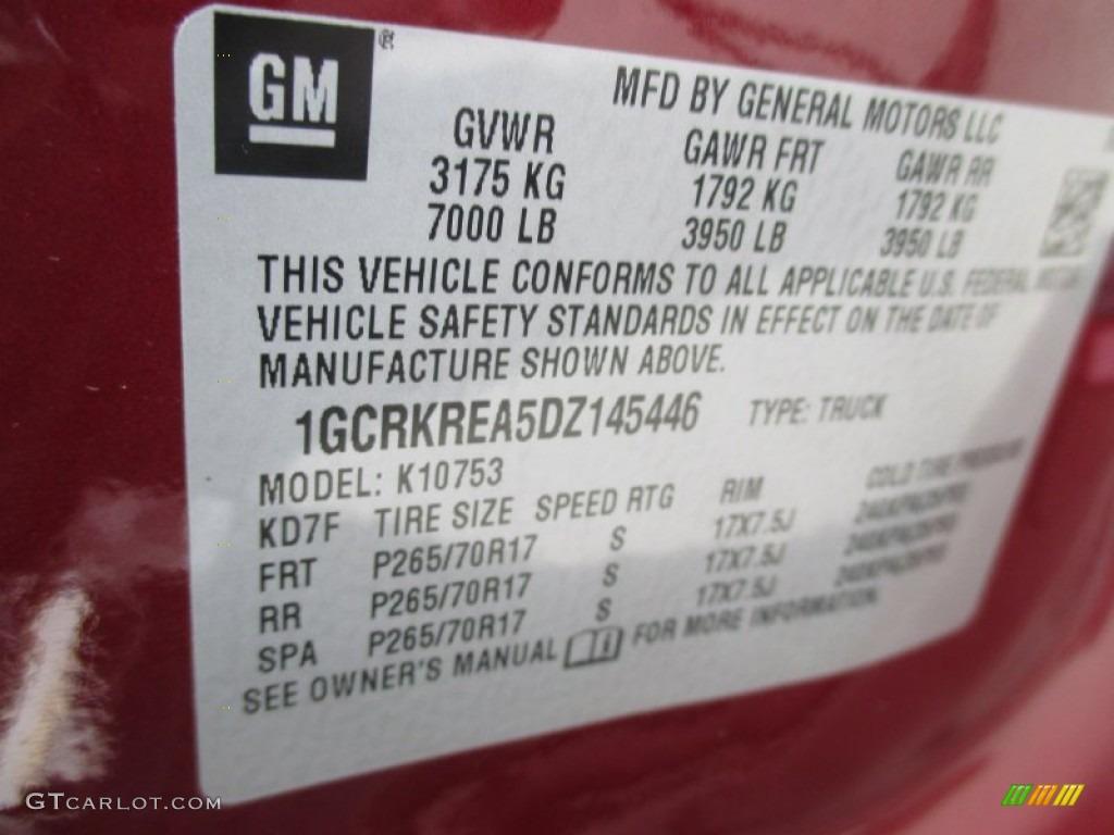 2013 Silverado 1500 LS Extended Cab 4x4 - Deep Ruby Metallic / Ebony photo #39