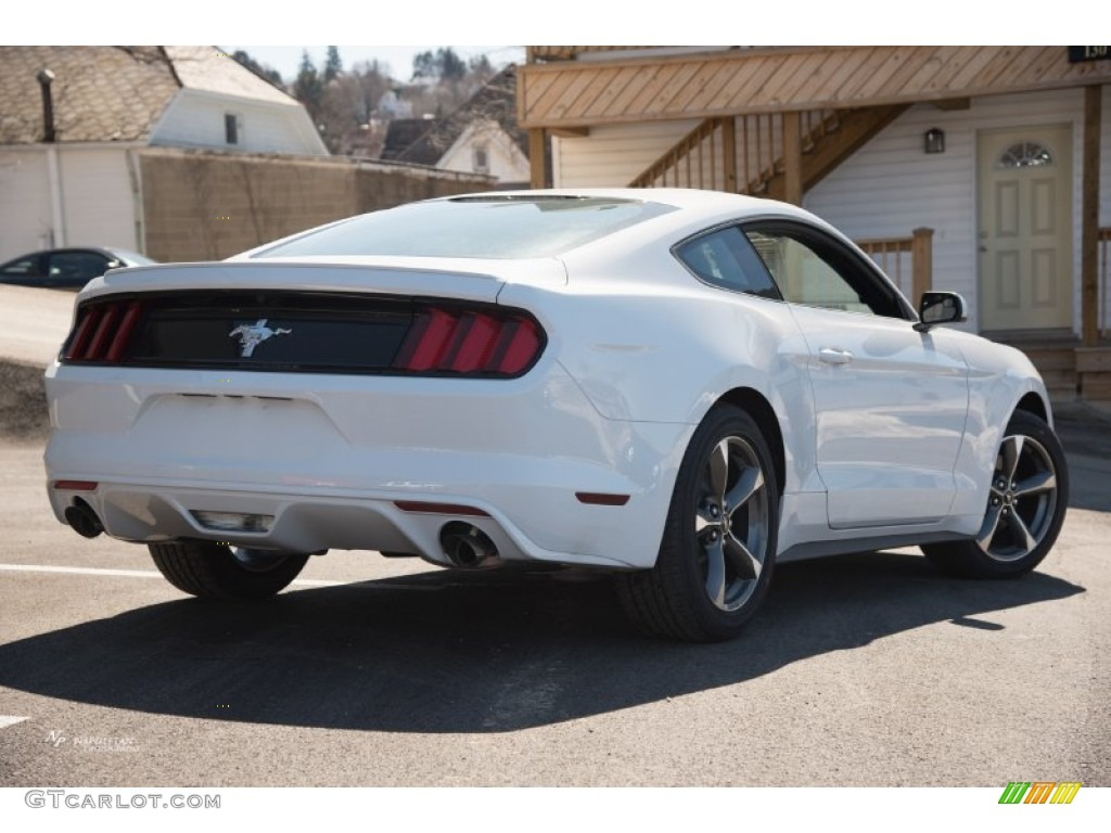 2015 Mustang V6 Coupe - Oxford White / Ebony photo #3
