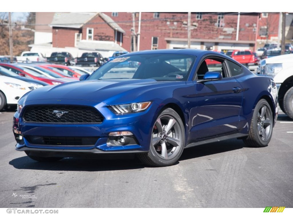 2015 mustang v6 coupe deep impact blue metallic ebony photo 1 - 2015 Ford Mustang V6 Blue