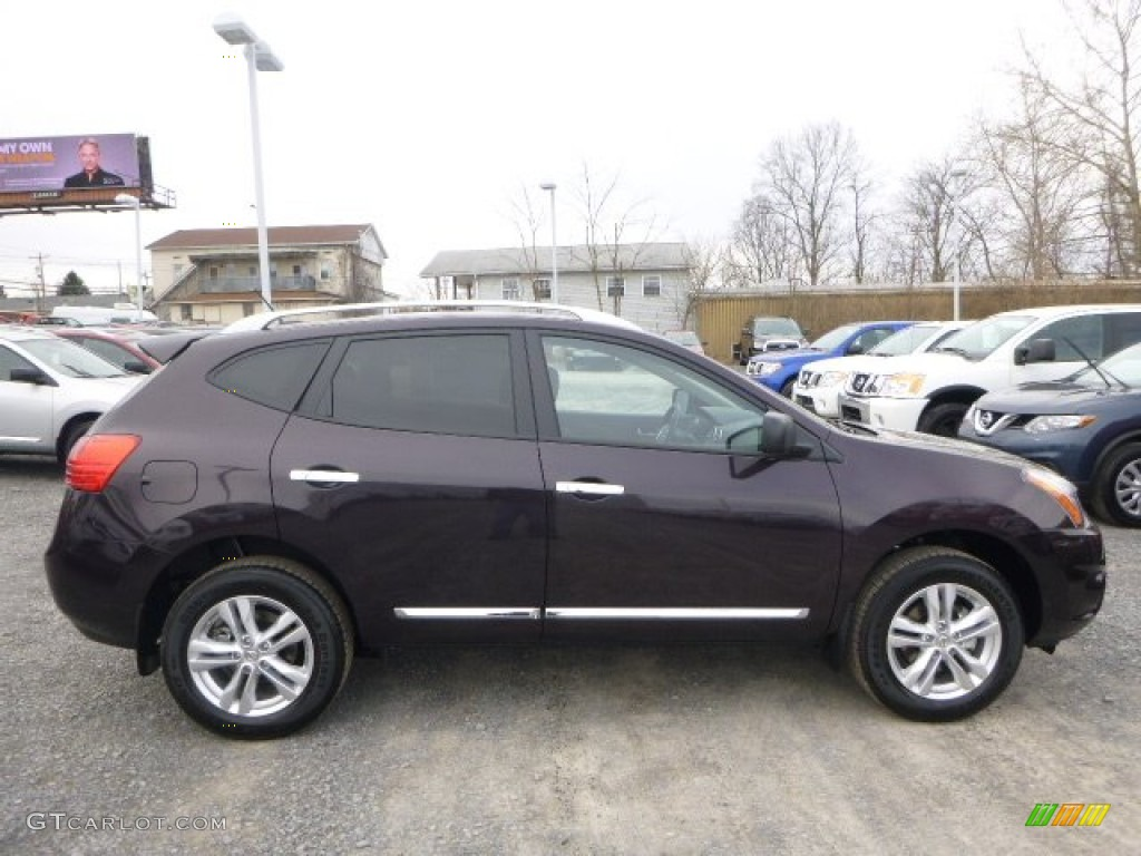 black amethyst 2015 nissan rogue select s awd exterior photo