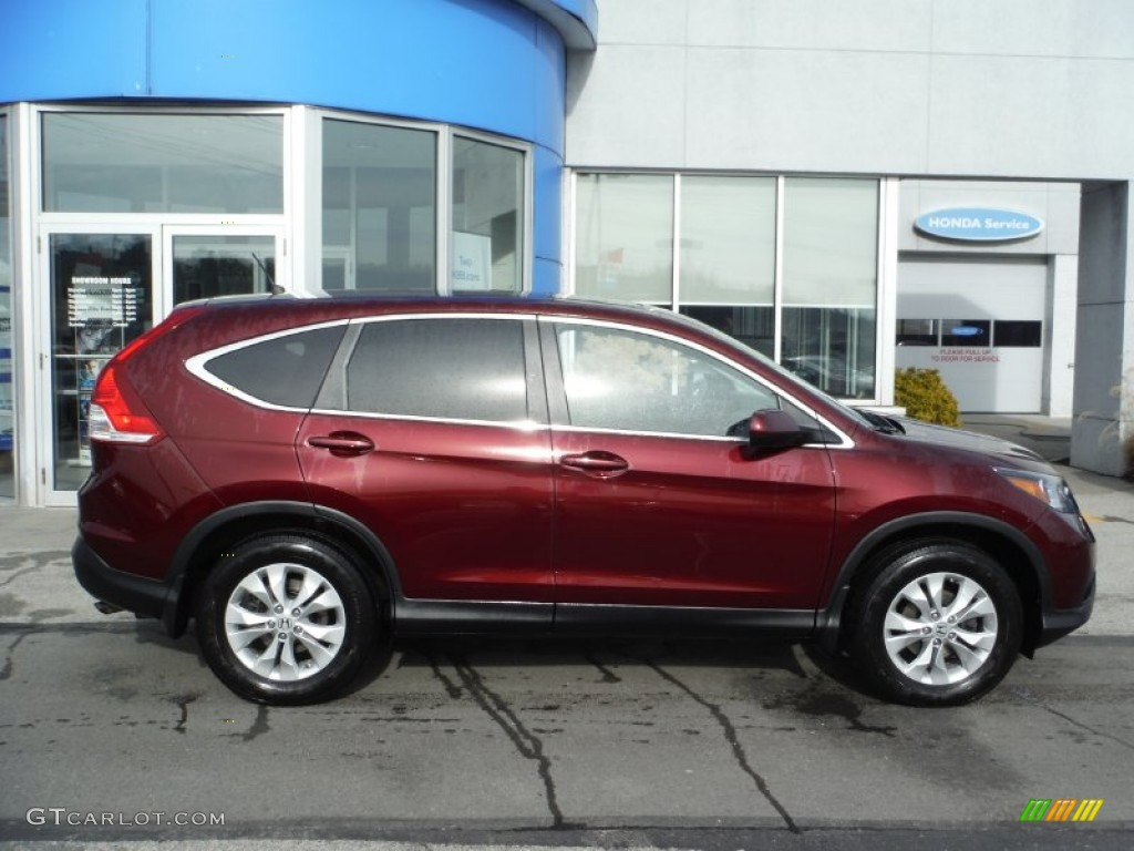 2013 CR-V EX AWD - Basque Red Pearl II / Gray photo #3
