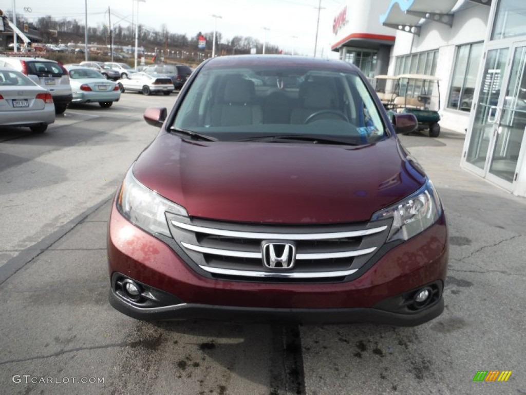 2013 CR-V EX AWD - Basque Red Pearl II / Gray photo #5