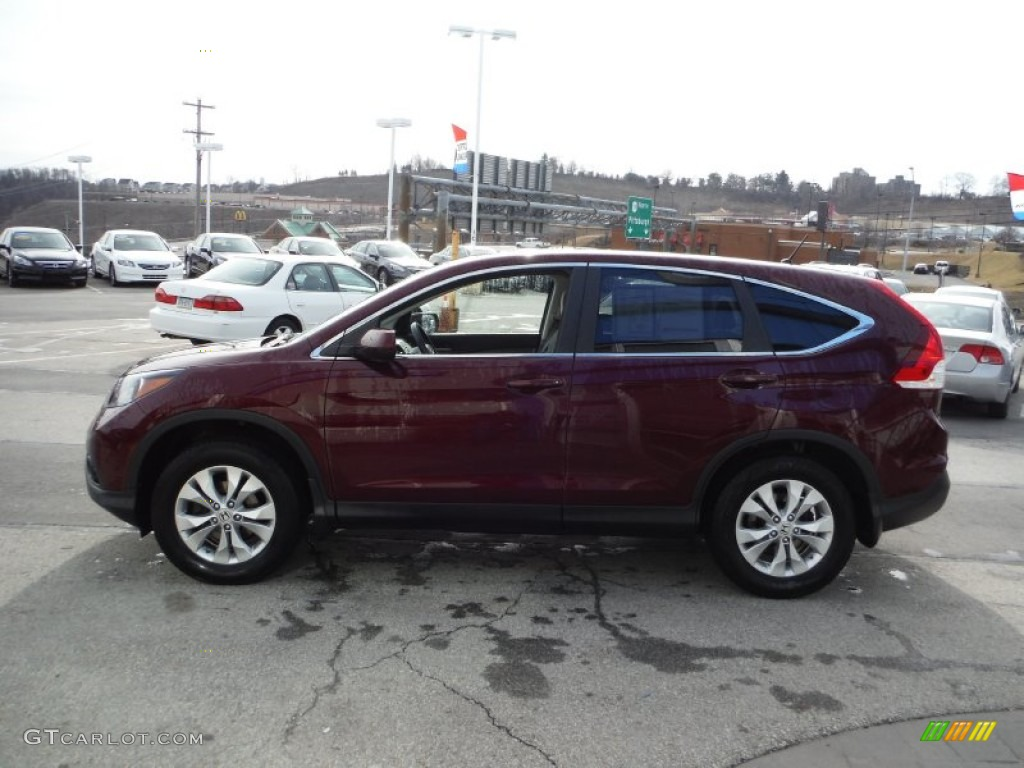 2013 CR-V EX AWD - Basque Red Pearl II / Gray photo #7