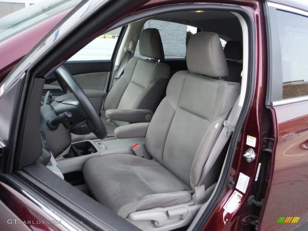 2013 CR-V EX AWD - Basque Red Pearl II / Gray photo #13
