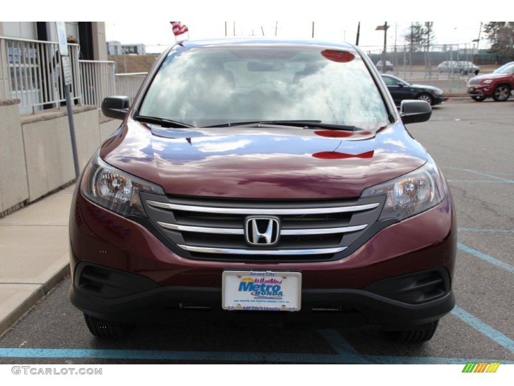 2013 CR-V LX AWD - Basque Red Pearl II / Gray photo #2