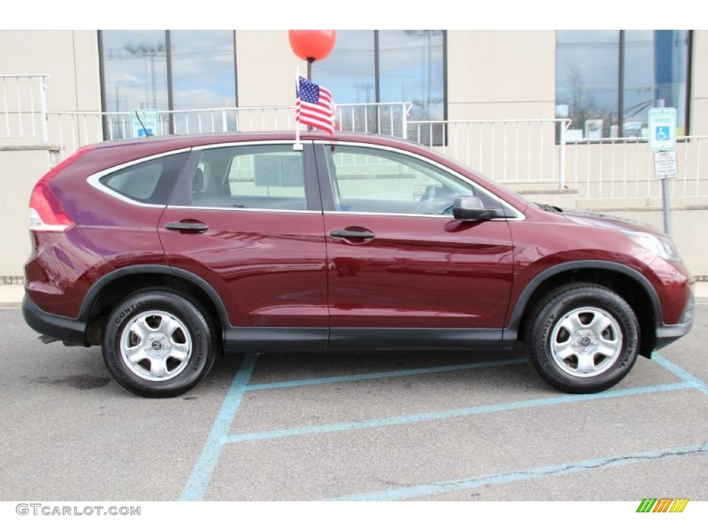 2013 CR-V LX AWD - Basque Red Pearl II / Gray photo #4