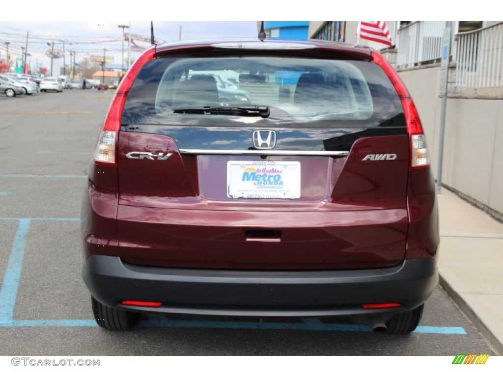 2013 CR-V LX AWD - Basque Red Pearl II / Gray photo #6