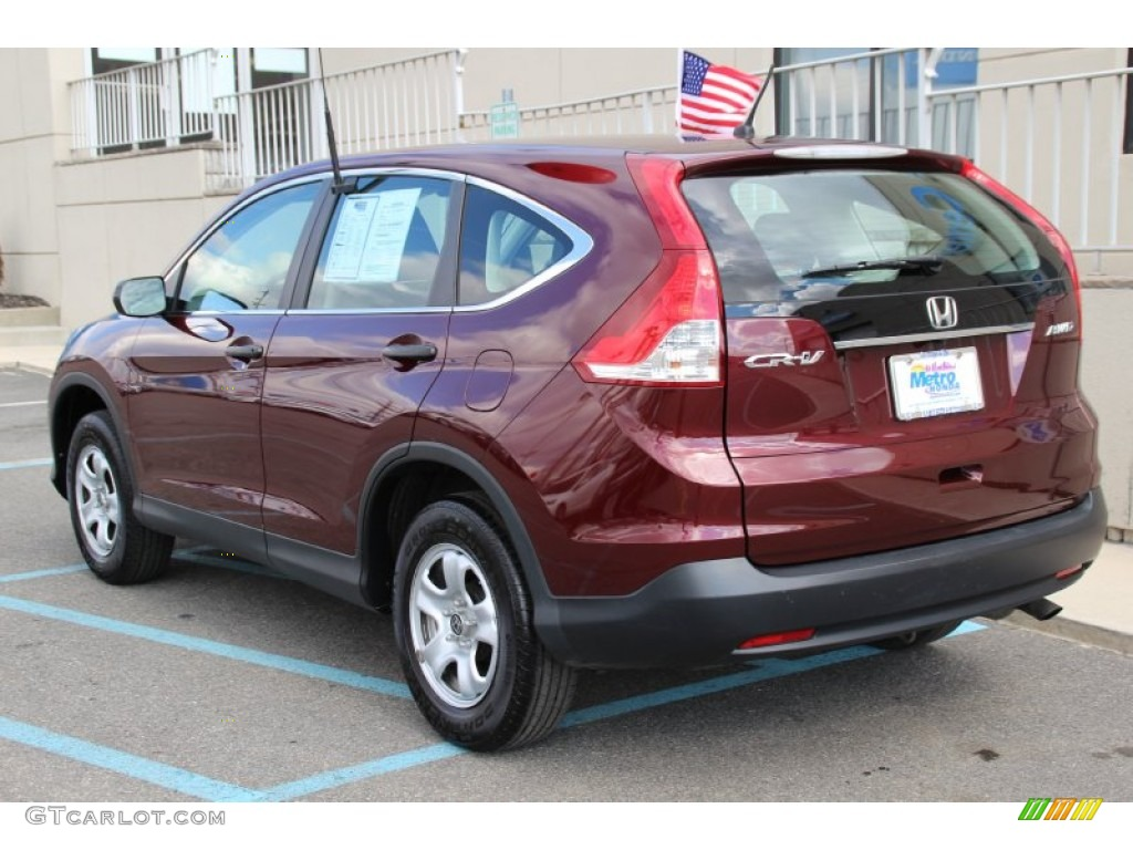 2013 CR-V LX AWD - Basque Red Pearl II / Gray photo #7