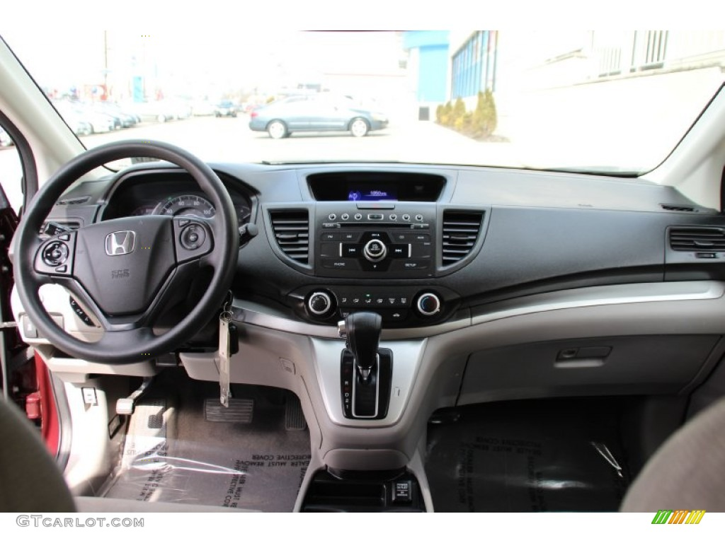 2013 CR-V LX AWD - Basque Red Pearl II / Gray photo #13