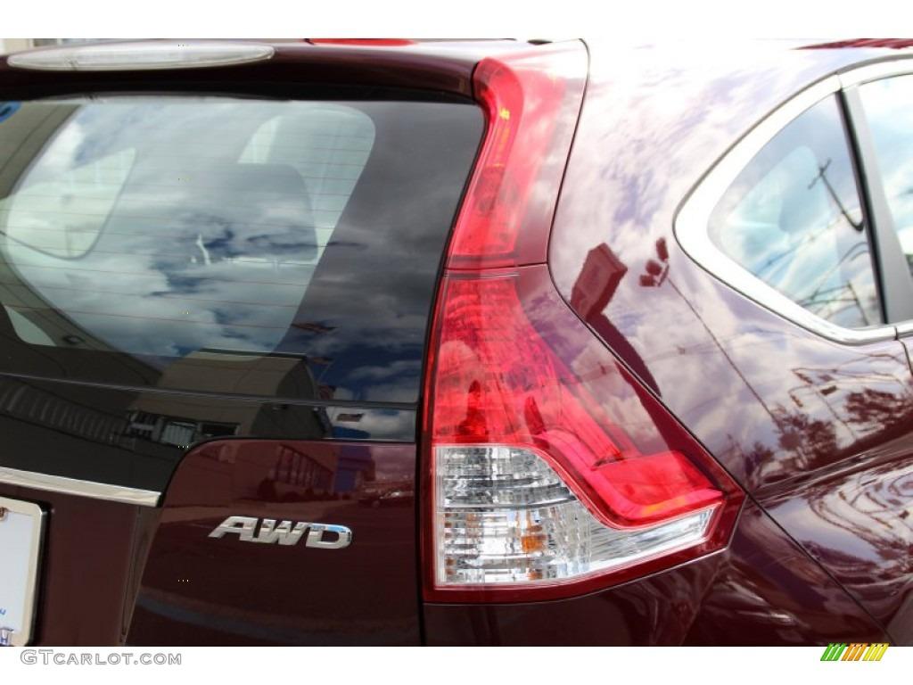 2013 CR-V LX AWD - Basque Red Pearl II / Gray photo #22