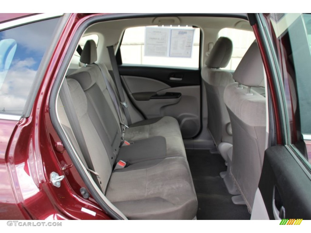 2013 CR-V LX AWD - Basque Red Pearl II / Gray photo #24