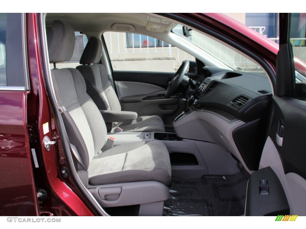 2013 CR-V LX AWD - Basque Red Pearl II / Gray photo #27