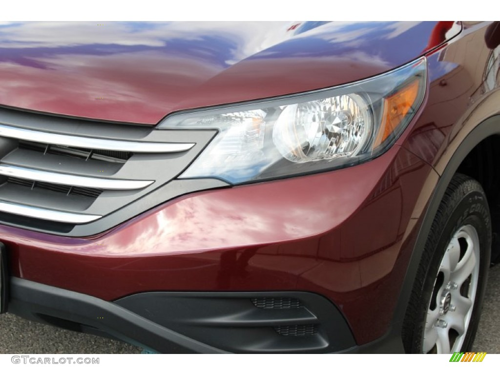 2013 CR-V LX AWD - Basque Red Pearl II / Gray photo #29