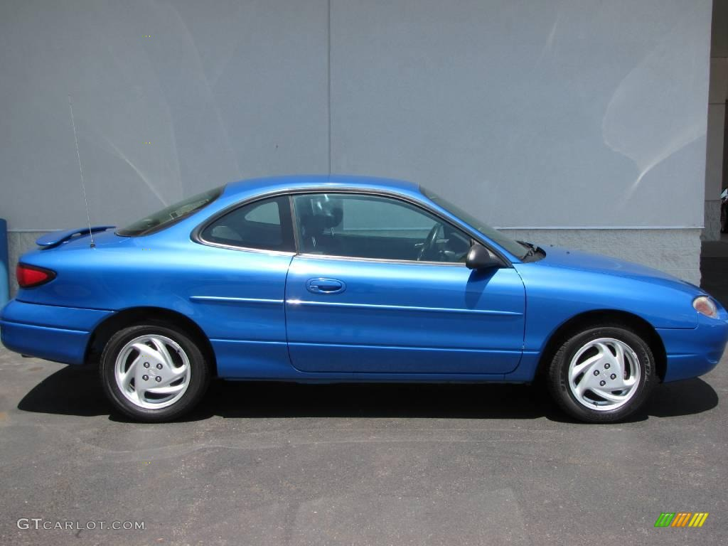 2002 escort zx2 coupe bright atlantic blue metallic dark gray photo 7