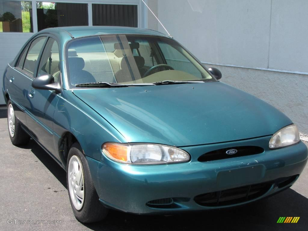 1998 light pine green metallic ford escort se sedan 10229157 gtcarlot com car color galleries gtcarlot com