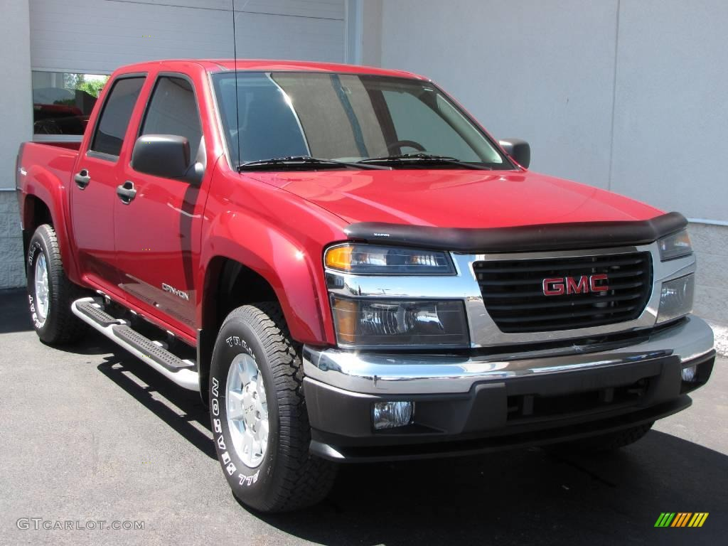2005 cherry red metallic gmc canyon sle crew cab 4x4. Black Bedroom Furniture Sets. Home Design Ideas
