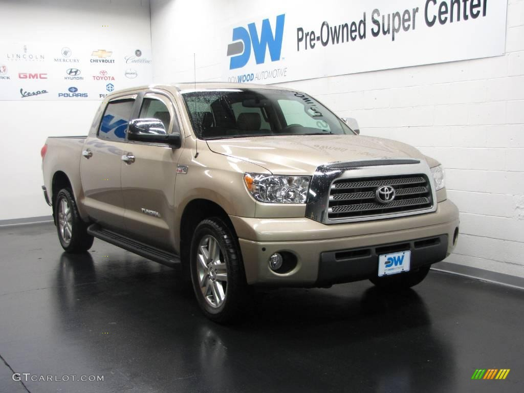 Tundra Limited CrewMax 4x4 - Desert Sand Mica Color / Beige Interior