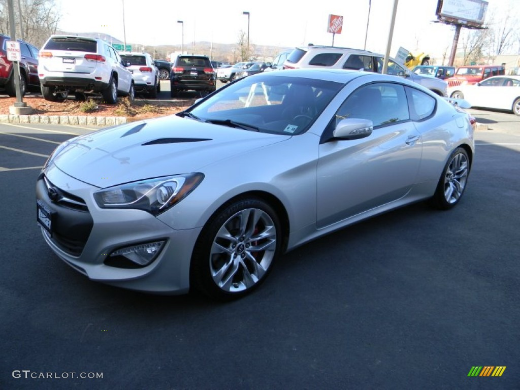 2013 Genesis Coupe 3.8 Grand Touring - Platinum Metallic / Black Leather photo #1