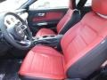 2015 Ford Mustang Red Line Interior Front Seat Photo