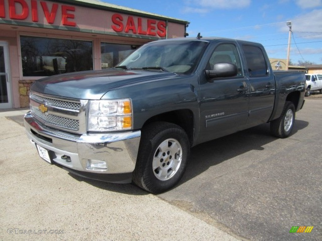 2012 Silverado 1500 LT Crew Cab 4x4 - Imperial Blue Metallic / Light Cashmere/Dark Cashmere photo #1
