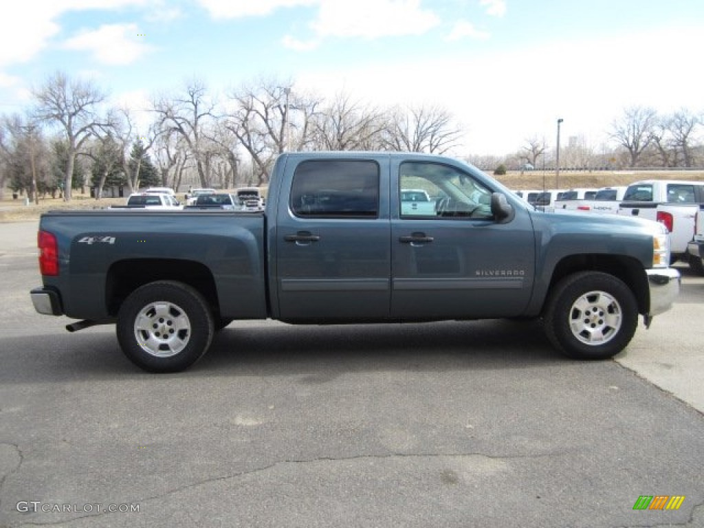 2012 Silverado 1500 LT Crew Cab 4x4 - Imperial Blue Metallic / Light Cashmere/Dark Cashmere photo #23