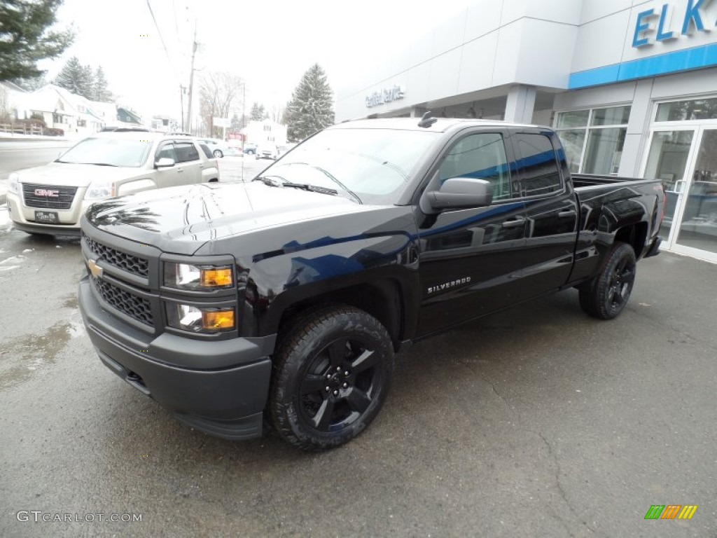 2015 black chevrolet silverado 1500 wt crew cab 4x4 black out edition 102378564 photo 7. Black Bedroom Furniture Sets. Home Design Ideas