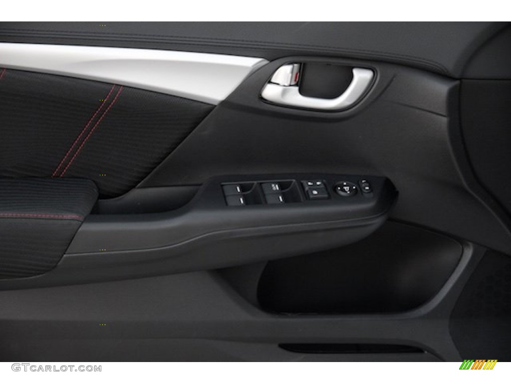 2015 Civic Si Sedan - Modern Steel Metallic / Si Black/Red photo #9