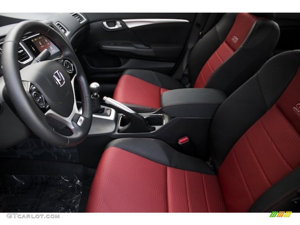 2015 Civic Si Sedan - Modern Steel Metallic / Si Black/Red photo #10