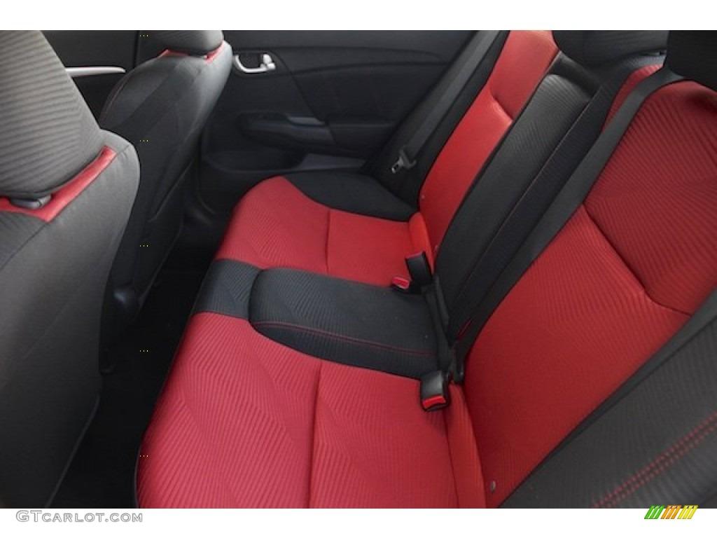2015 Civic Si Sedan - Modern Steel Metallic / Si Black/Red photo #13