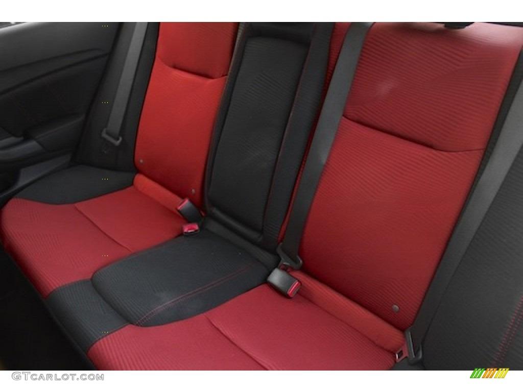 2015 Civic Si Sedan - Modern Steel Metallic / Si Black/Red photo #16
