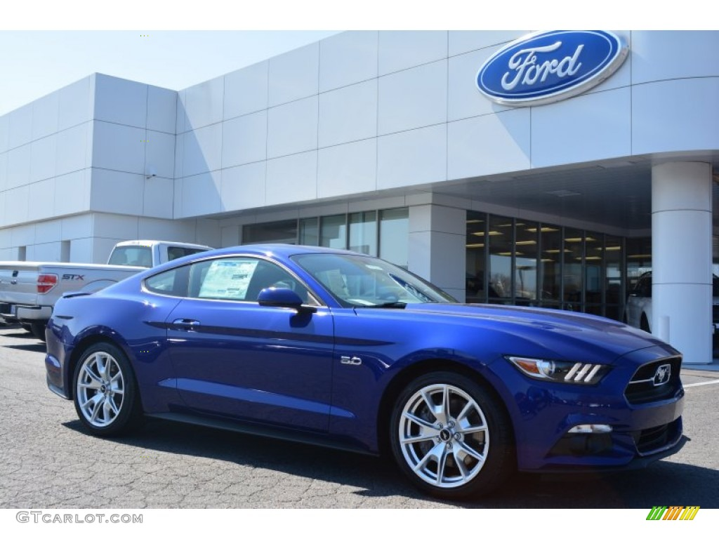 2017 Deep Impact Blue Metallic Ford Mustang Gt Premium Coupe 102439182
