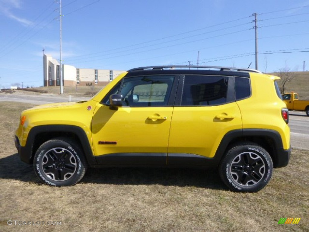 Solar Yellow 2015 Jeep Renegade Trailhawk 4x4 Exterior ...