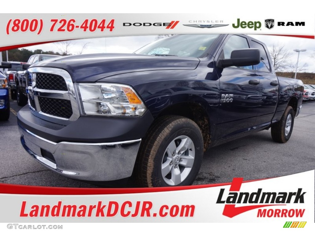 2015 1500 Tradesman Quad Cab - True Blue Pearl / Black/Diesel Gray photo #1