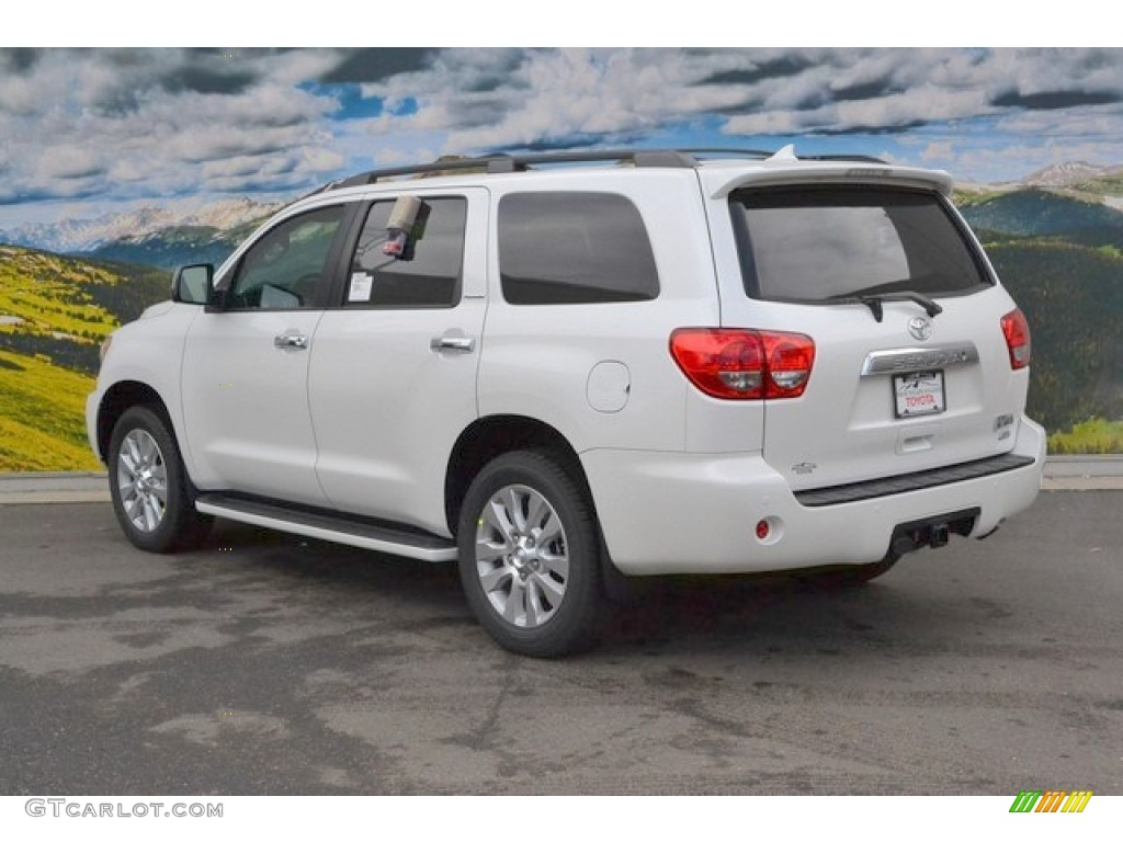 2015 blizzard pearl toyota sequoia platinum 4x4 102469418. Black Bedroom Furniture Sets. Home Design Ideas