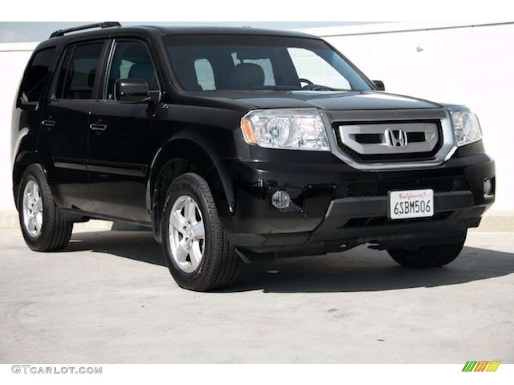 2011 crystal black pearl honda pilot ex l 102469627 photo for Black honda pilot