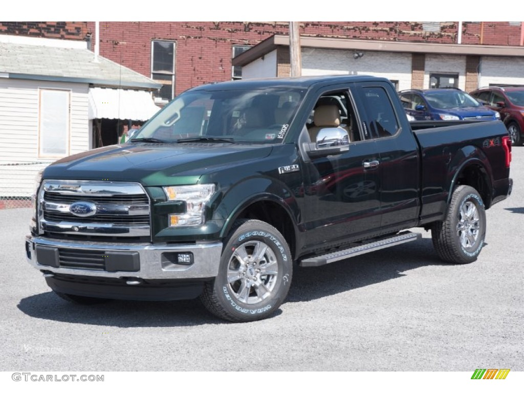 2015 green gem metallic ford f150 lariat supercab 4x4 102469621 car color. Black Bedroom Furniture Sets. Home Design Ideas