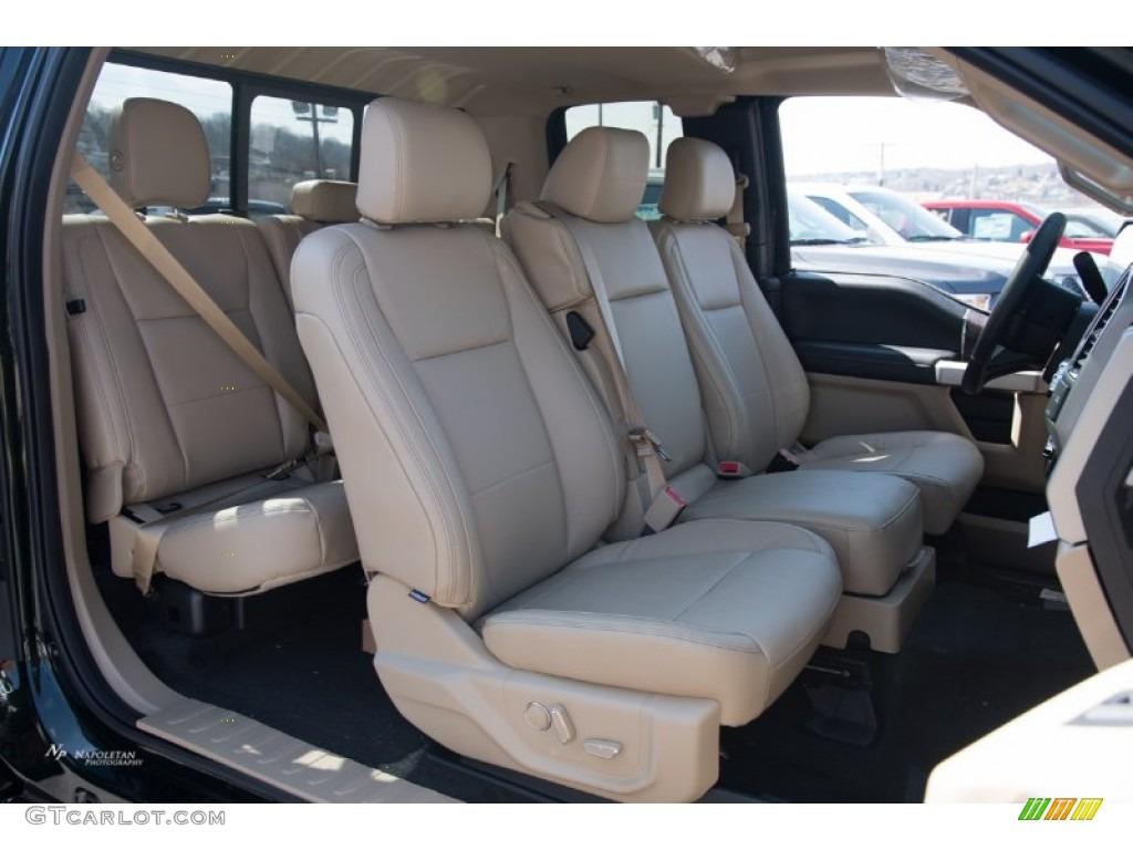 Medium Light Camel Interior 2015 Ford F150 Lariat Supercab