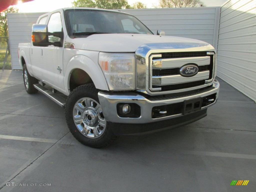2015 white platinum ford f250 super duty lariat crew cab 4x4 102469704 car. Black Bedroom Furniture Sets. Home Design Ideas