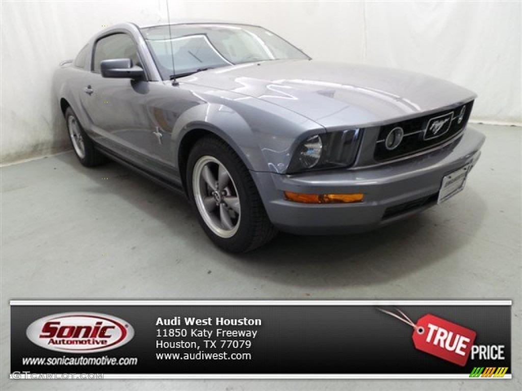 2006 Mustang V6 Premium Coupe - Tungsten Grey Metallic / Black photo #1