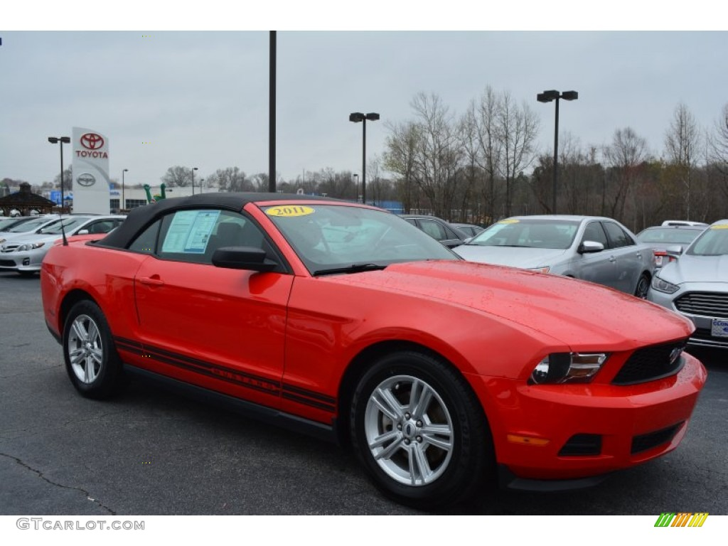 2011 Mustang V6 Convertible - Race Red / Charcoal Black photo #1