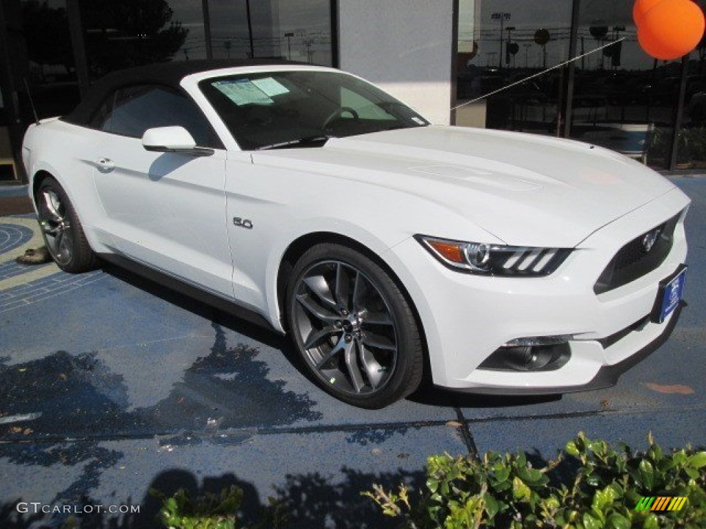 2015 Mustang GT Premium Convertible - Oxford White / Ebony photo #1