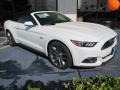 2015 Oxford White Ford Mustang GT Premium Convertible  photo #1